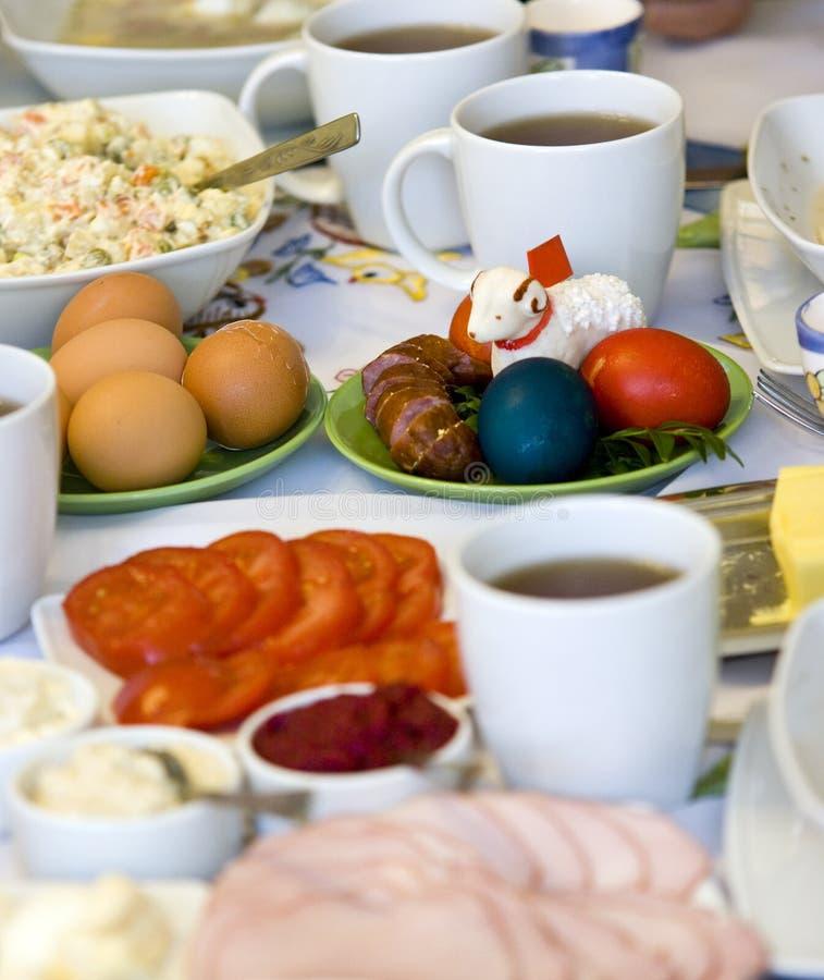 Ajuste da tabela de Easter foto de stock