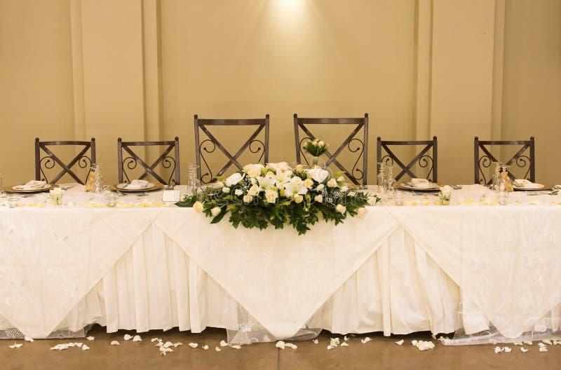 Ajuste da tabela do casamento foto de stock