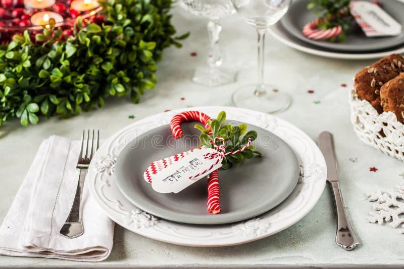 Ajuste da tabela do Natal imagem de stock royalty free