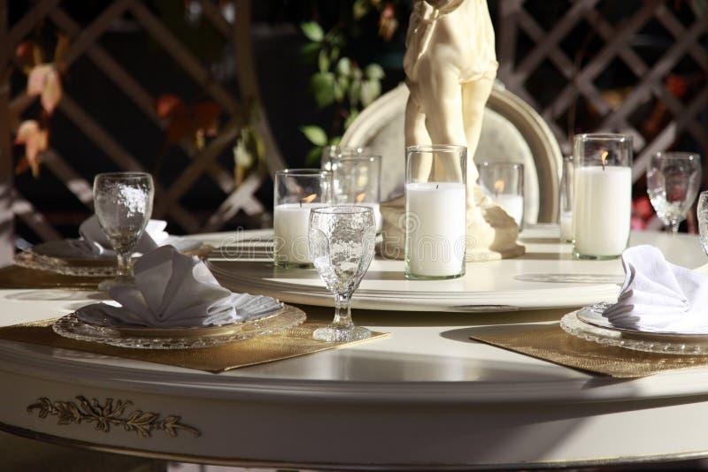 Ajuste da tabela do restaurante fotos de stock royalty free