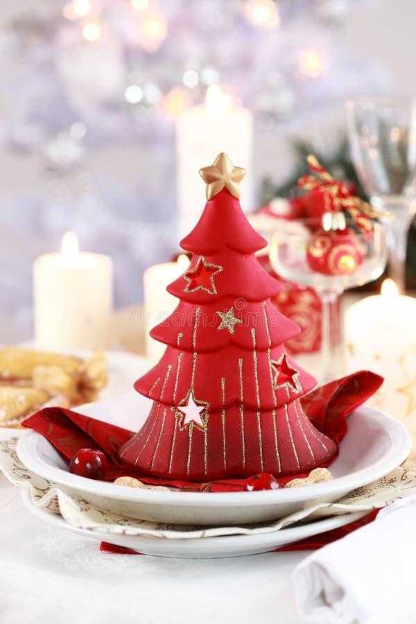 Ajuste da tabela para o Natal foto de stock royalty free