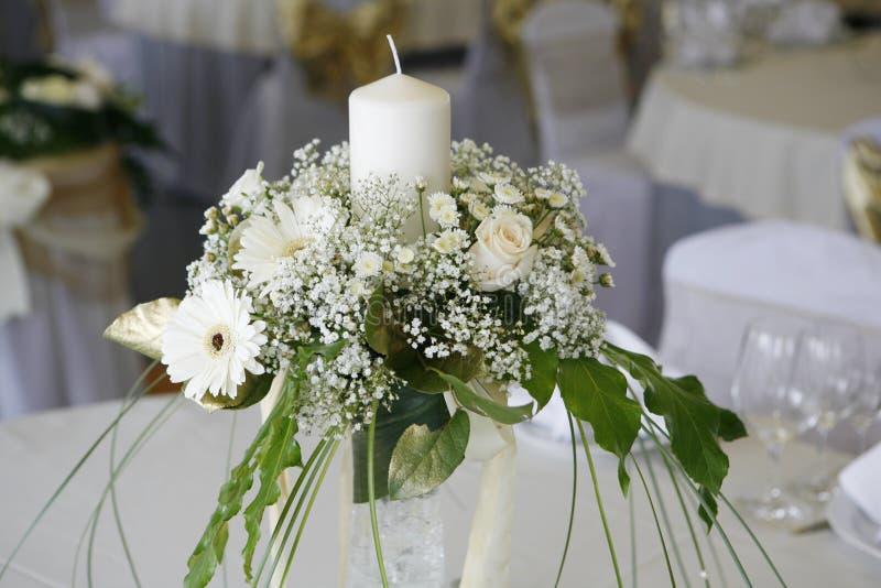 Ajuste da tabela para um casamento foto de stock
