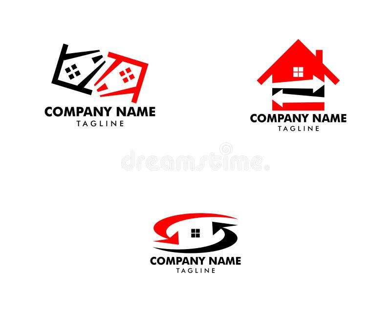 Ajuste da troca Logo Icon Template da casa ilustração royalty free