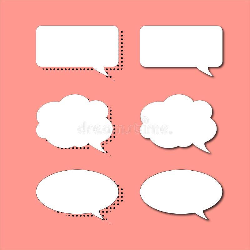 Ajuste das bolhas do discurso em dois estilos diferentes ilustração do vetor