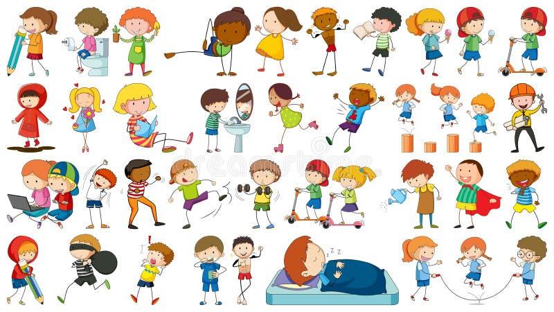 Ajuste das crianças simples ilustração royalty free