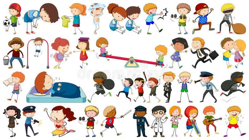 Ajuste das crianças simples ilustração stock