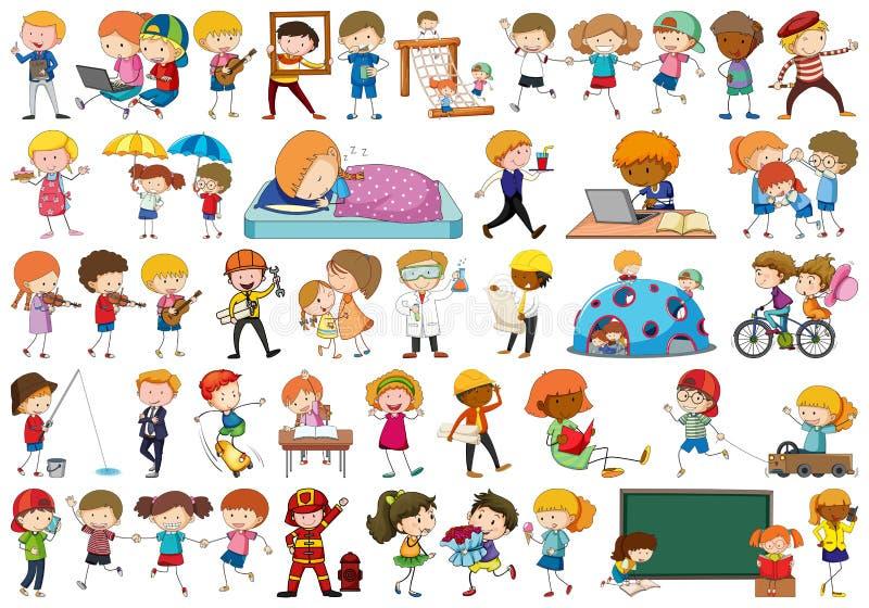 ajuste das crianças simples diferentes ilustração do vetor