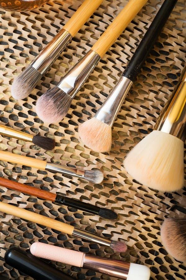 Ajuste das escovas diferentes para compõem Fim acima foto de stock royalty free