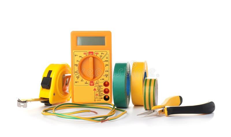 Ajuste das ferramentas do eletricista imagens de stock royalty free