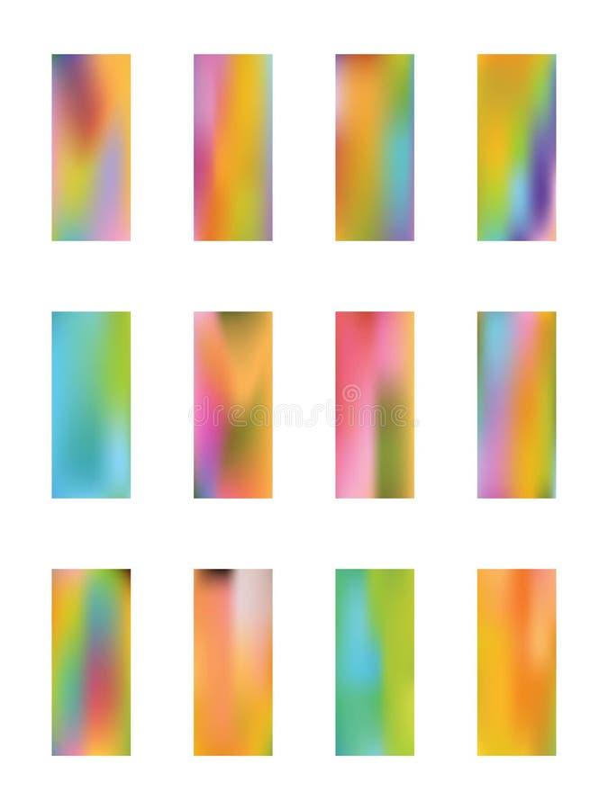Ajuste das imagens abstratas do fundo ilustração do vetor