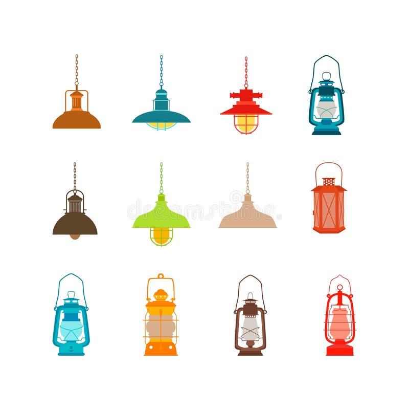 Ajuste das lâmpadas e das lanternas ilustração do vetor