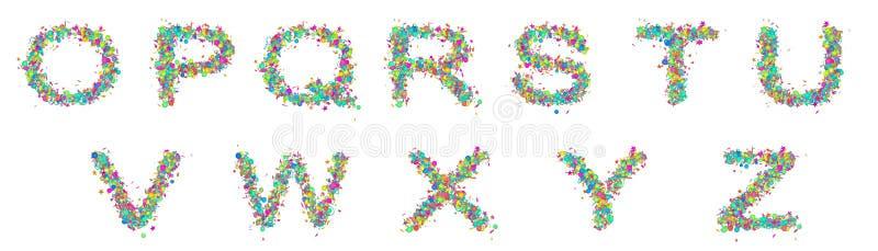 Ajuste das letras coloridos isoladas do divertimento foto de stock royalty free