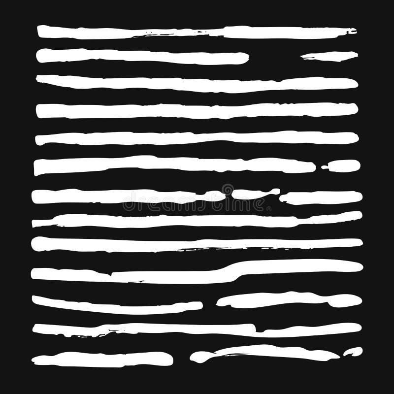 Ajuste das linhas no fundo cinzento ilustração do vetor