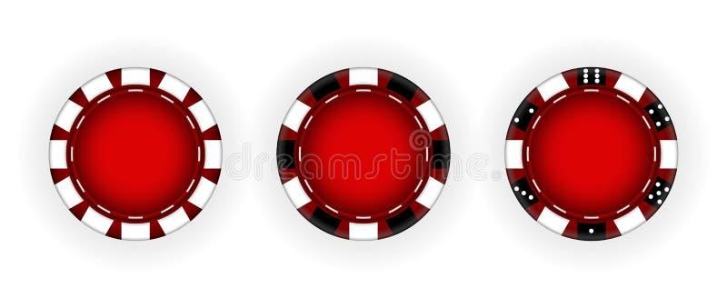 Ajuste das microplaquetas para o casino gambling Ilustra??o do vetor ilustração do vetor