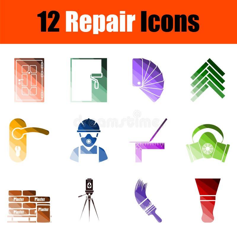 Ajuste de 12 ícones do reparo ilustração royalty free