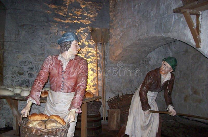 Ajuste de la cocina en Stirling Castle imagen de archivo libre de regalías