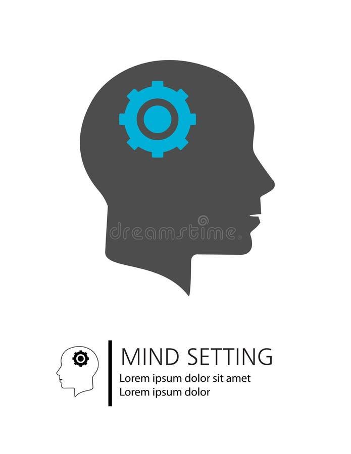 Ajuste de la mente ilustración del vector
