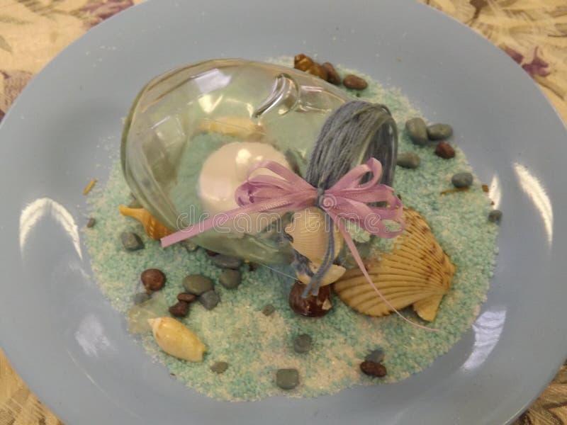 Ajuste de la tabla de la concha marina foto de archivo
