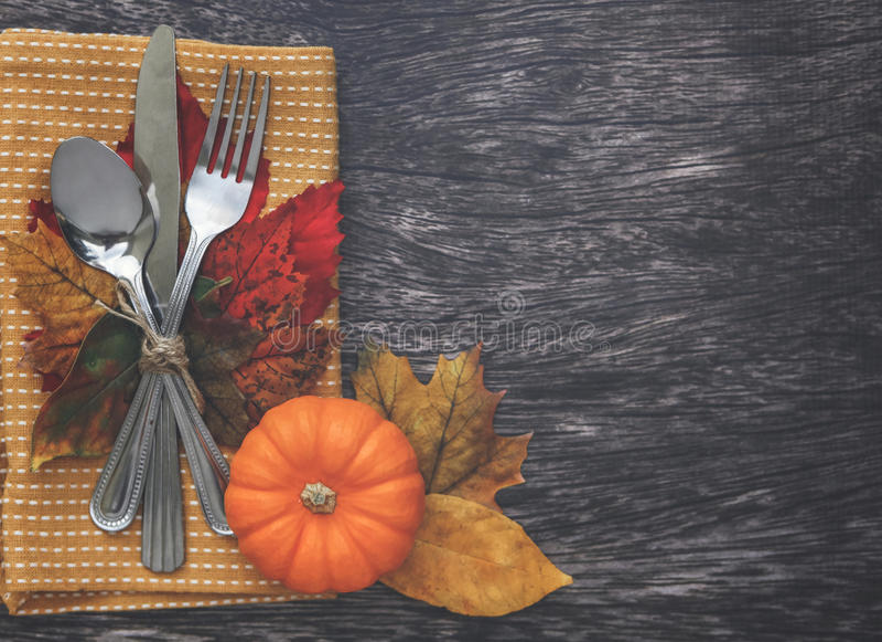 Ajuste de la tabla de la acción de gracias foto de archivo libre de regalías