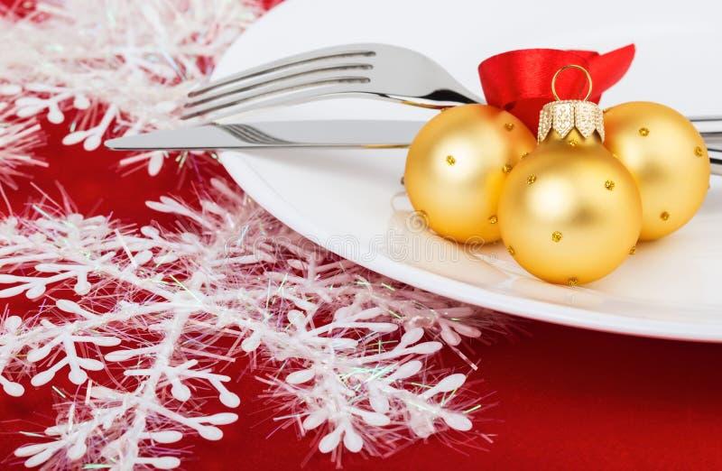 Ajuste de la tabla de la Navidad fotografía de archivo libre de regalías