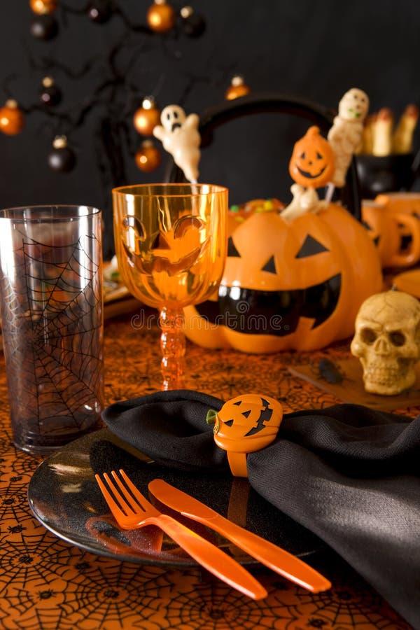 Ajuste de lugar de Halloween imagem de stock