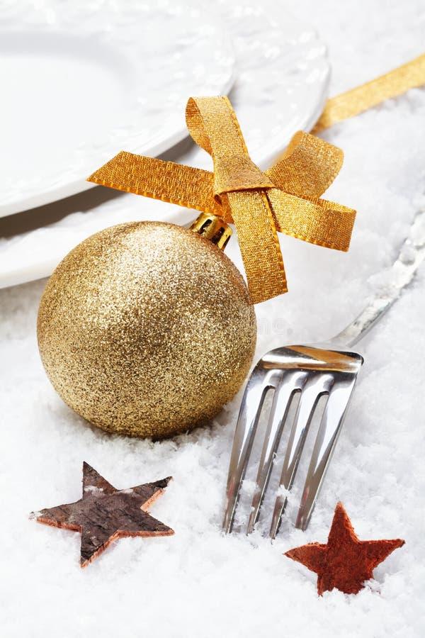 Ajuste de lugar do inverno do Natal fotos de stock royalty free