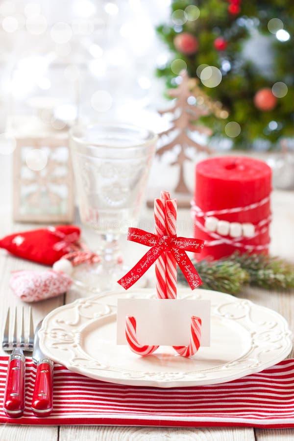 Ajuste de lugar do Natal imagem de stock
