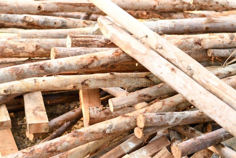 Ajuste de muitas madeiras do log foto de stock royalty free