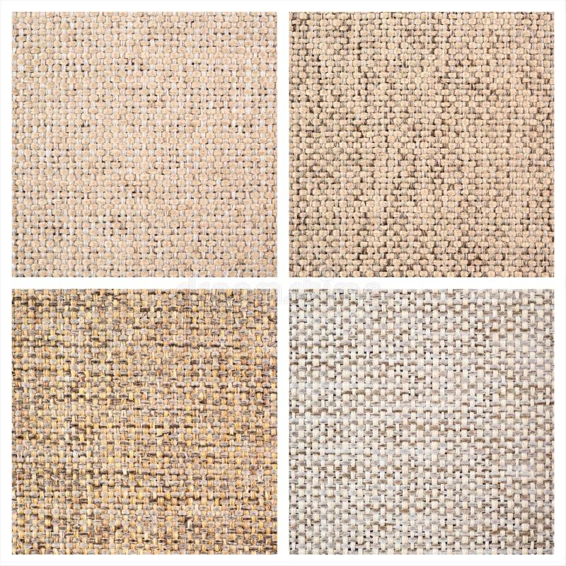 Ajuste de quatro fundos de matéria têxtil imagens de stock royalty free
