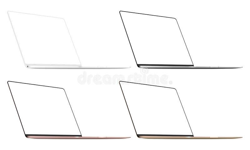 Ajuste de quatro portáteis modernos isolado ilustração royalty free