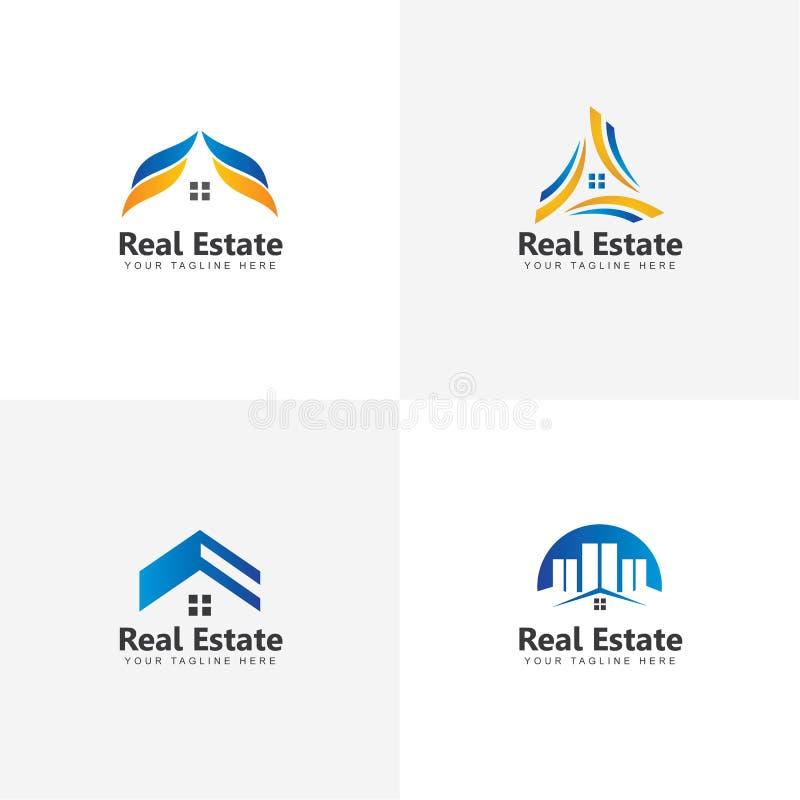 Ajuste de Real Estate Logo Vetora Design Inspiration ilustração royalty free