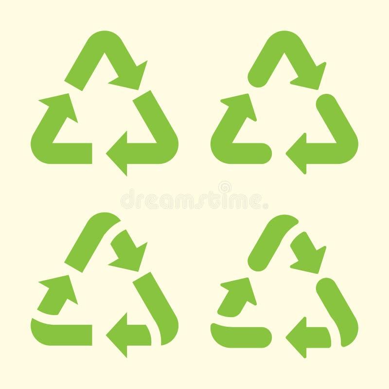 Ajuste de reciclar o ícone das setas Ilustra??o do vetor ilustração royalty free