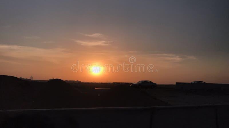 Ajuste de Sun imágenes de archivo libres de regalías