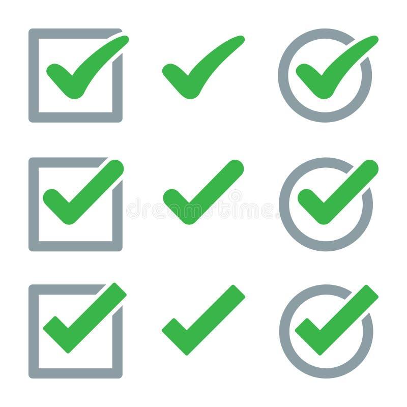Ajuste do ícone da marca de verificação Ilustra??o do vetor ilustração stock