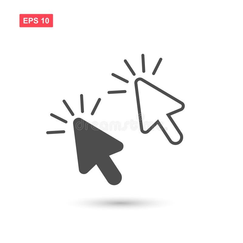 Ajuste do ícone do vetor do clique do cursor isolado ilustração do vetor