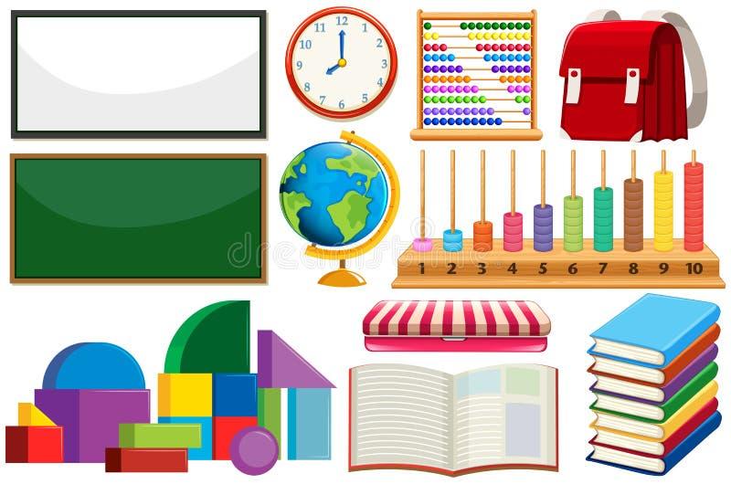Ajuste do equipamento de aprendizagem ilustração stock
