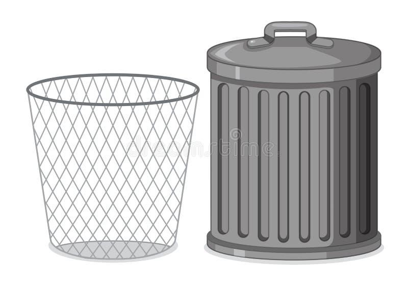 Ajuste do escaninho de lixo ilustração do vetor