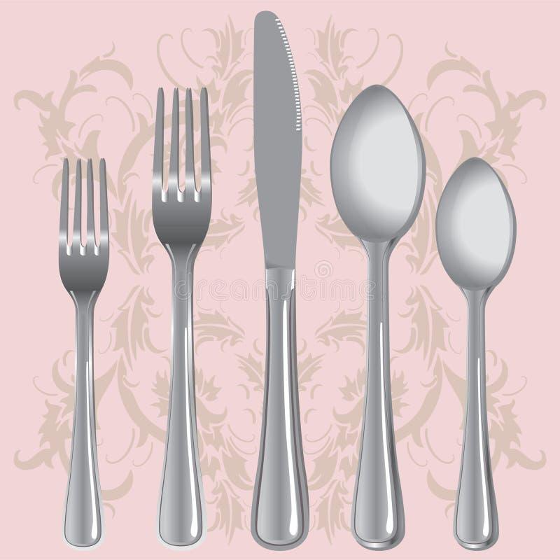 Ajuste do jantar ilustração royalty free