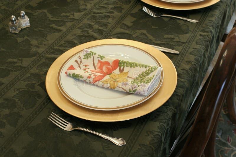 Ajuste do jantar fotografia de stock