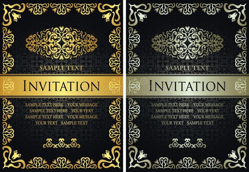 Ajuste do molde dos certificados ilustração royalty free