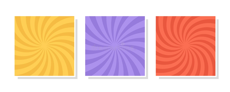 Ajuste do redemoinho, fundos do redemoinho Espiral de gerencio da cor ilustração royalty free