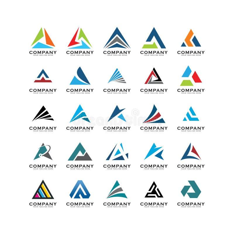 Ajuste do sumário do vetor do logotipo do triângulo, um sumário do logotipo do triângulo ilustração royalty free
