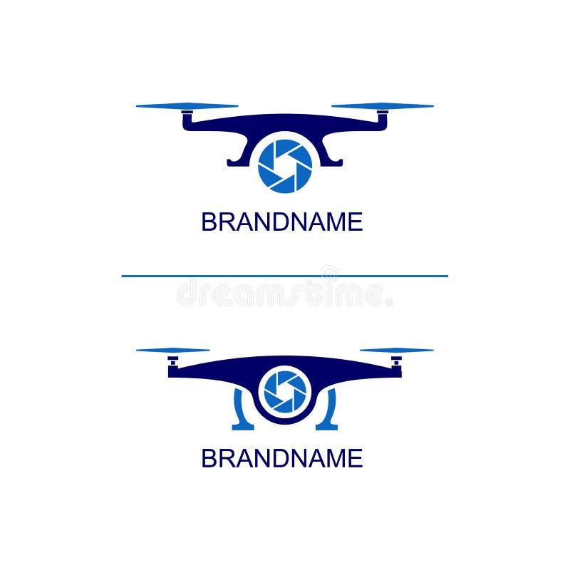 Ajuste do zangão aéreo Logo Template ilustração do vetor