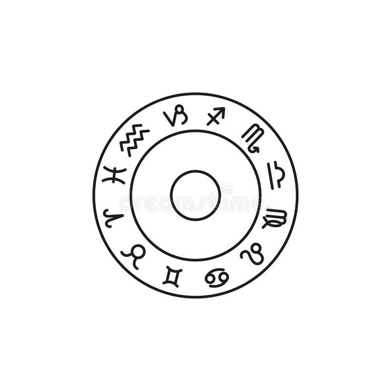 Ajuste dos ícones do sinal do zodíaco o horóscopo ilustração do vetor