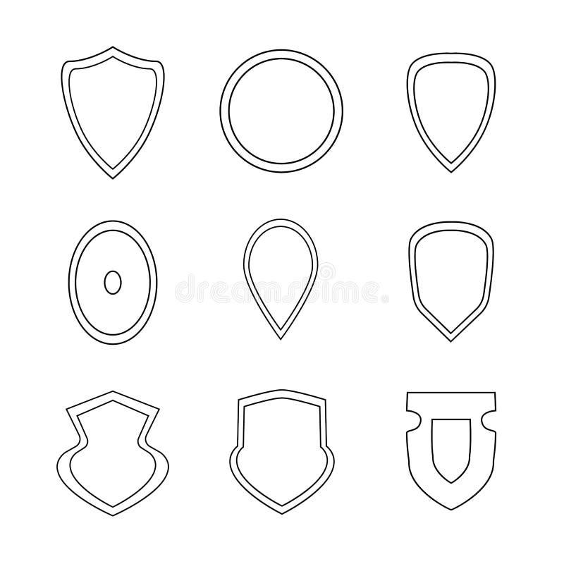 Ajuste dos ícones dos protetores ilustração do vetor