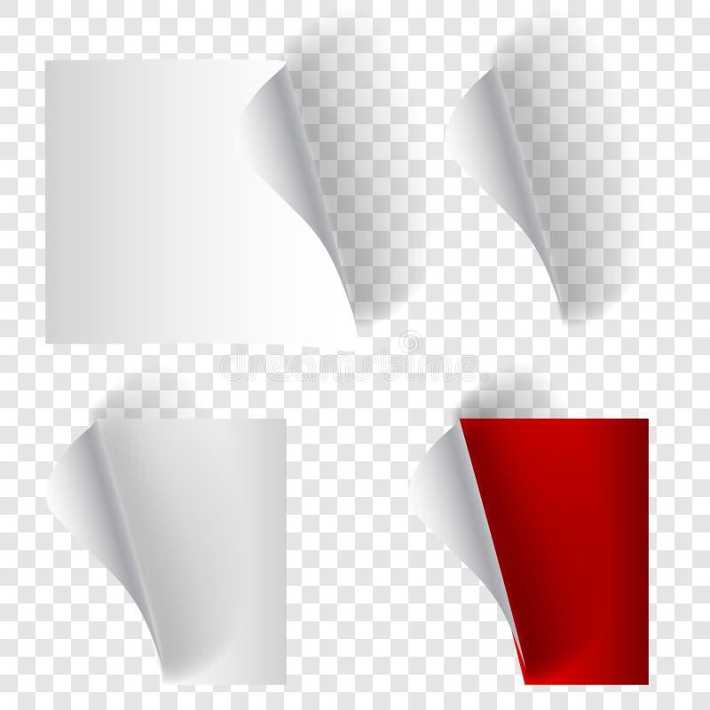 Ajuste dos cantos de papel ondulados ilustração do vetor
