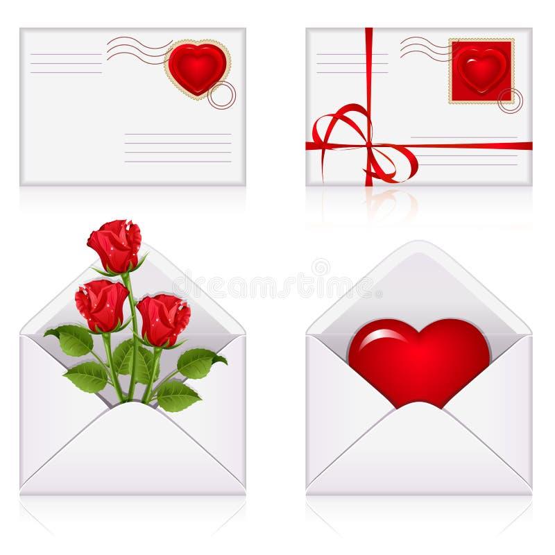 Ajuste dos envelopes ilustração royalty free