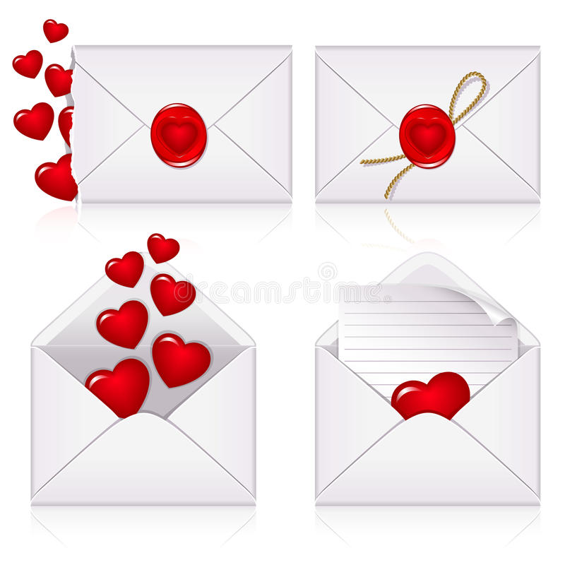 Ajuste dos envelopes ilustração stock