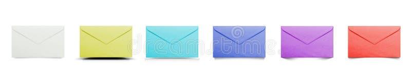 Ajuste dos envelopes da cor com sombras diferentes ilustração royalty free
