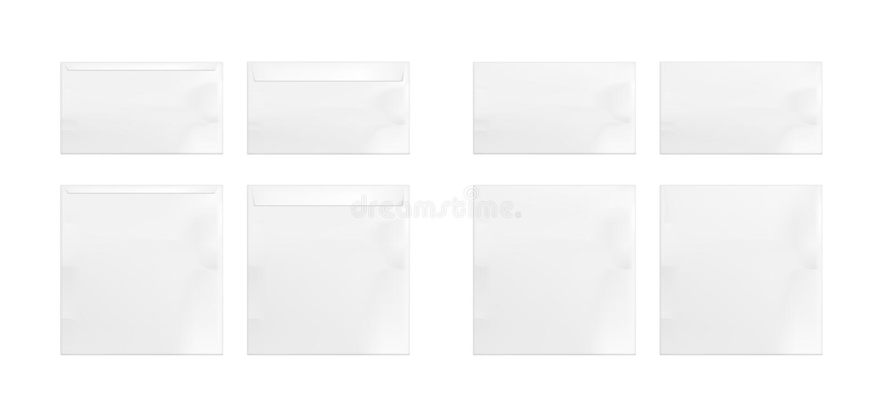 Ajuste dos envelopes do Livro Branco ilustração do vetor